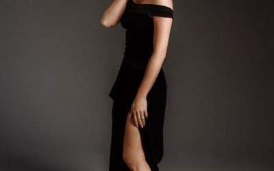 Spring Black Dress