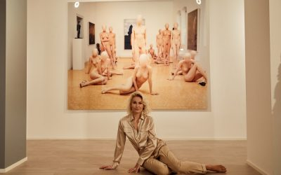 Models of Vanessa Beecroft and me